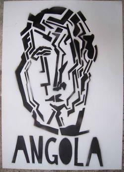 Pochoir - Angola