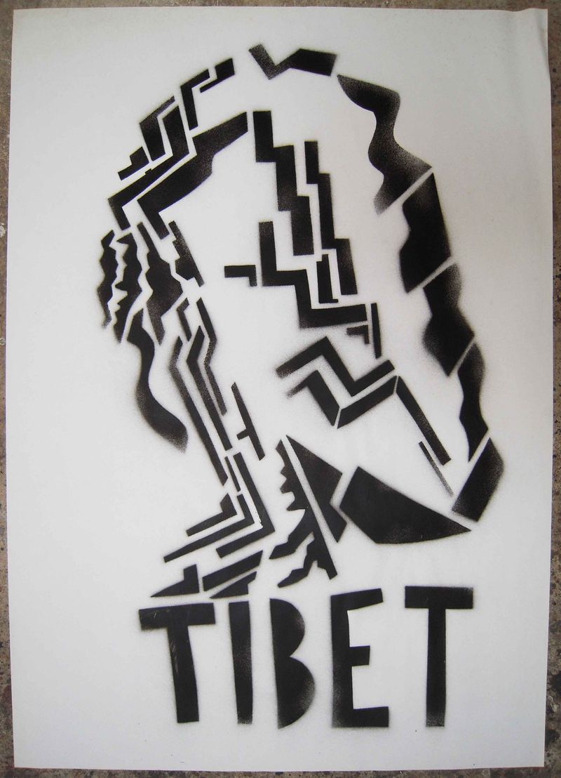Pochoir - Tibet