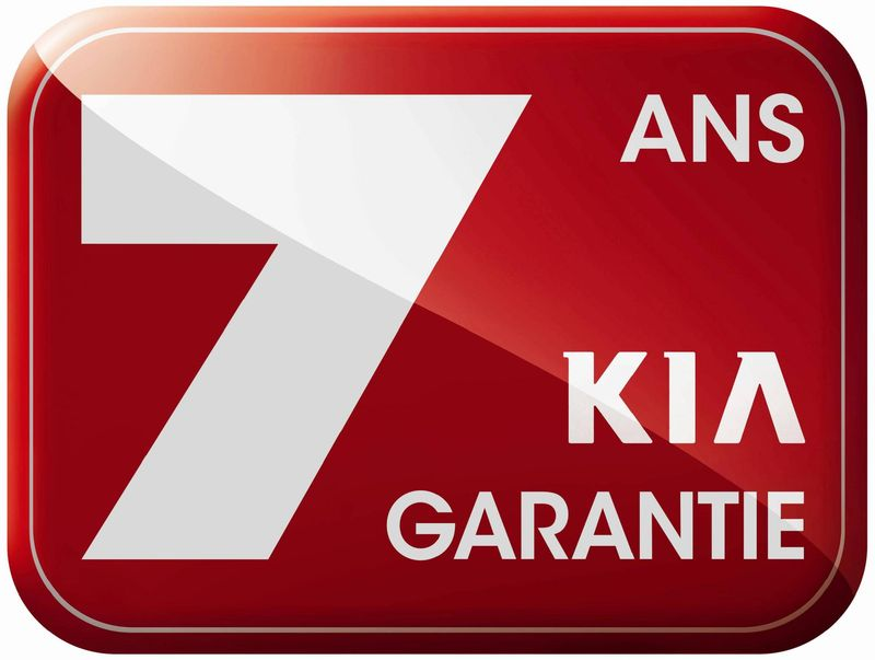logo kia 7 ans de garantie. Black Bedroom Furniture Sets. Home Design Ideas
