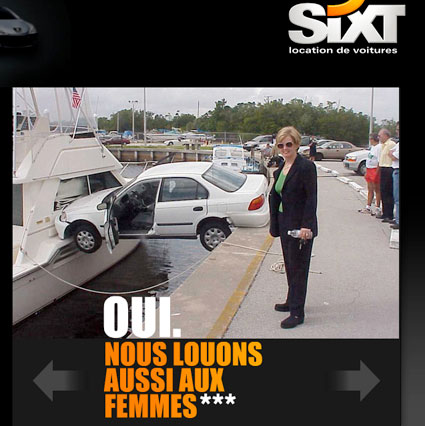 et si l 39 on parlait marketing analyse de pub 190 sixt location voitures. Black Bedroom Furniture Sets. Home Design Ideas