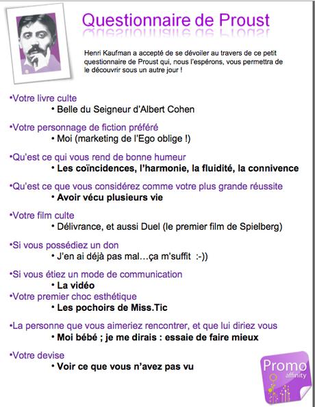 Top Eclectihk-log: Mon questionnaire de Proust YH43